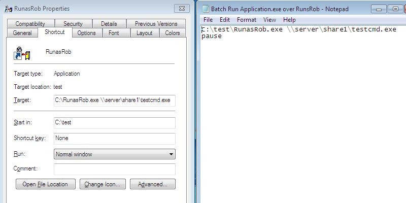 Call an Application from an allowed path
